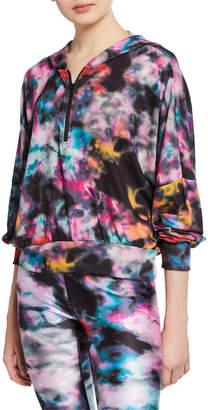 Terez Hooded 3/4-Zip Pullover Sweatshirt