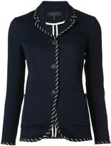 Rag & Bone stripe applique fitted jacket - women - Cotton/Polyamide - 0