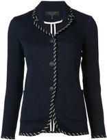 Rag & Bone stripe applique fitted jacket