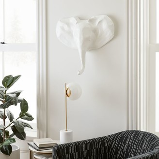 west elm Papier-Mache Animal Sculpture - Young Elephant Head