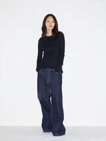 Raey Crew-neck Fine-rib Cashmere Sweater - Womens - Navy