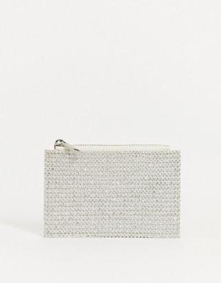 Asos DESIGN diamante coin purse with cardholder