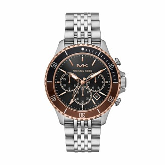 Michael Kors Men's Bayville Quartz Watch with Stainless Steel Strap