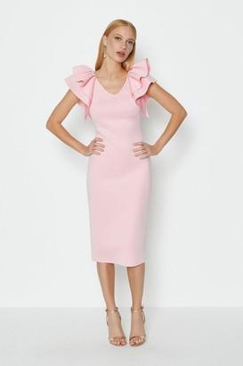 Coast Ruffle Shoulder Short Dress