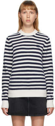 Acne Studios Navy and White Breton Stripe Sweater