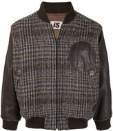 Issey Miyake Pre Owned 1980's chest logo plaid bomber