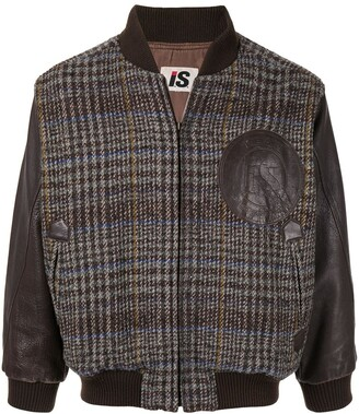 Issey Miyake Pre-Owned 1980's Chest Logo Plaid Bomber