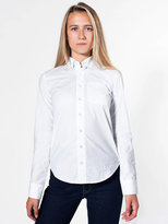 Unisex Poplin Long Sleeve Button-Down With Pocket