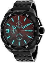 Diesel Heavyweight DZ4395 Men's Black IP Stainless Steel Chronograph Watch