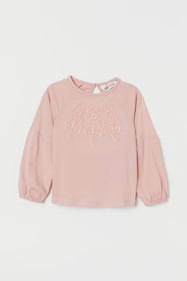 H&M Cotton jersey top