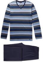 Hanro Jolan Mercerised Striped Cotton-Jersey Pyjama Set