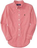 Polo Ralph Lauren Yarn-Dyed Poplin Long Sleeve Button Down Shirt (Big Kids)