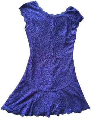 Diane von Furstenberg Blue Lace Dresses