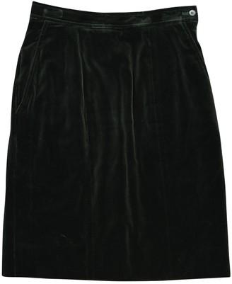 Saint Laurent Green Cotton Skirt for Women Vintage