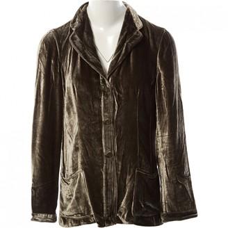 Giorgio Armani Green Velvet Top for Women Vintage