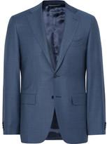 Canali Blue Slim-fit Water-resistant Birdseye Wool Suit Jacket