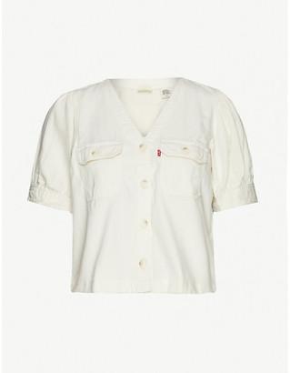 Levi's Bryn puff sleeve twill shirt