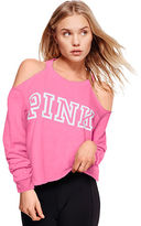 PINK Cold Shoulder Crew
