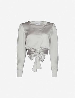 Designers Remix Kacy wrap-over satin shirt