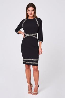Paper Dolls Montane Black Tweed Detail Bodycon Dress