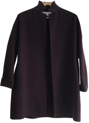 Harris Wharf London Burgundy Wool Jacket for Women
