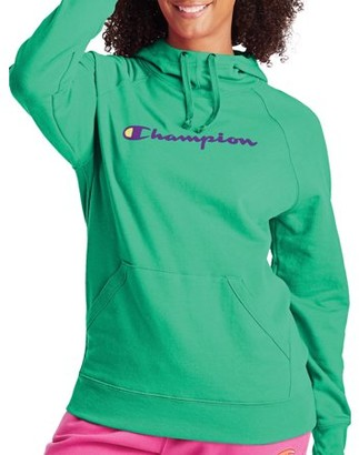 Champion Women's Powerblend Fleece Pullover Hoodie-Graphic