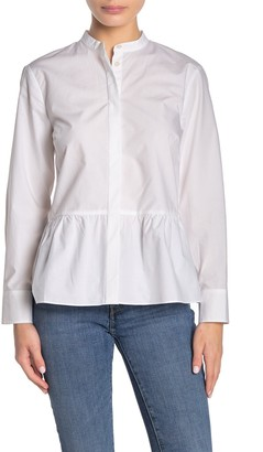 J.Crew Button Front Peplum Shirt (Regular & Petite)