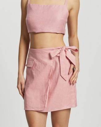Dazie The Naturalist Linen Skirt