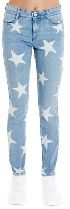Stella McCartney Printed Star Motif Skinny Mid Rise Jeans