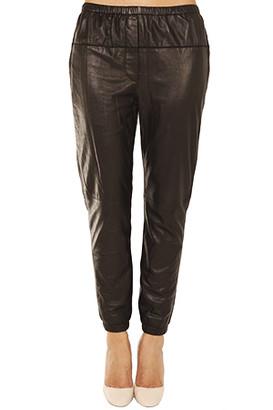 3.1 Phillip Lim Elastic Leather Sweatpant