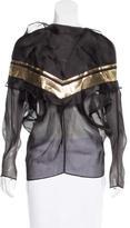 Les Chiffoniers Metallic Silk Top w/ Tags