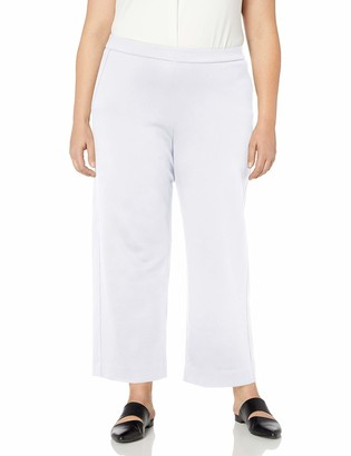 Joan Vass Women's Plus Size Ankle Stretch Interlock Pant