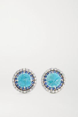 Kimberly 18-karat White Gold Multi-stone Earrings - one size