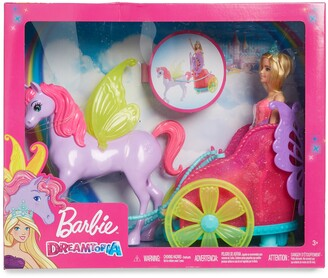 Mattel Barbie(R) Dreamtopia Princess Doll with Fantasy Horse & Chariot Set