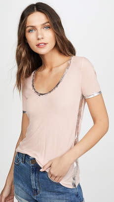 Zadig & Voltaire Tino Foil Top