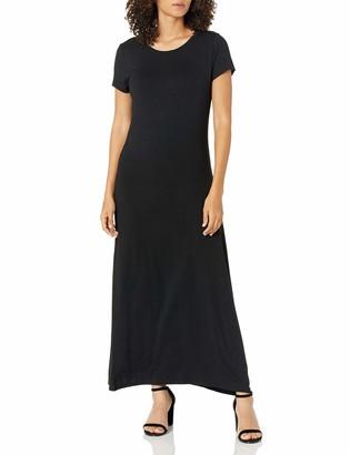 Amazon Essentials Women's Solid Short-Sleeve Maxi Dress