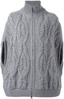 Fay cable knit zipped jacket