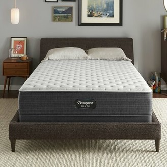 """Simmons Silver BRS900 12"""" Extra Firm Innerspring Mattress and Box Spring Mattress Size: Twin, Box Spring Height: Low Profile (5"""")"""