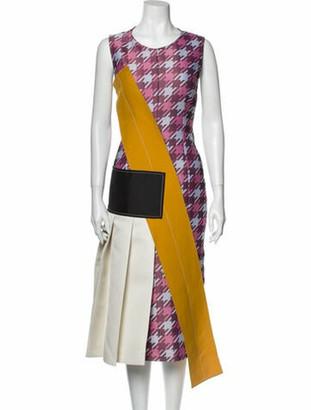 Marni Printed Knee-Length Dress w/ Tags Pink