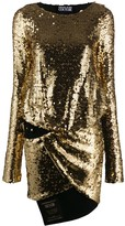 Versace sequin-embroidered short dress