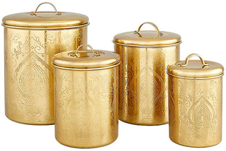 One Kings Lane Set of 4 Yost Canisters - Gold