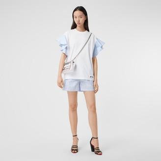 Burberry Ruffled Sleeve Cotton Oversized T-shirt