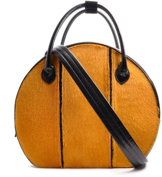 Ostwald Finest Couture Bags Circle Soft Large In Nero Black & Sunny Yellow