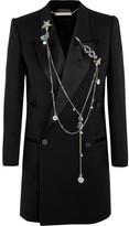 Alexander McQueen Embellished Wool And Silk-blend Crepe Blazer - Black