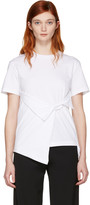J.W.Anderson White Draped Front T-shirt
