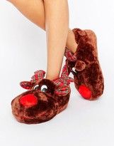 Loungeable Rudolf Holidays Slipper