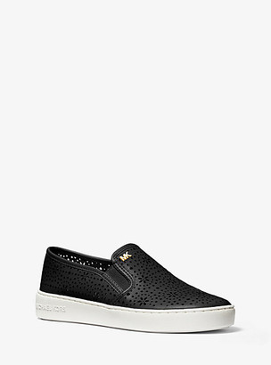 Michael Kors Kane Perforated Leather Slip-On Sneaker