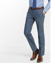 Express slim photographer textured blue dress pant