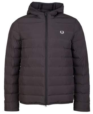 Fred Perry Authentics Insulated Hooded Jacket Colour: BLACK, Size: SMA