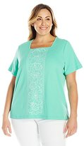 Alfred Dunner Women's Plus-Size Seashell T Shirt